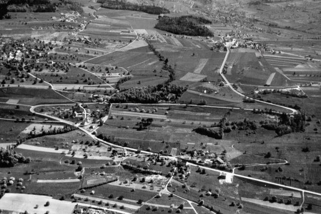 Luftaufnahme vom Mutschellen.