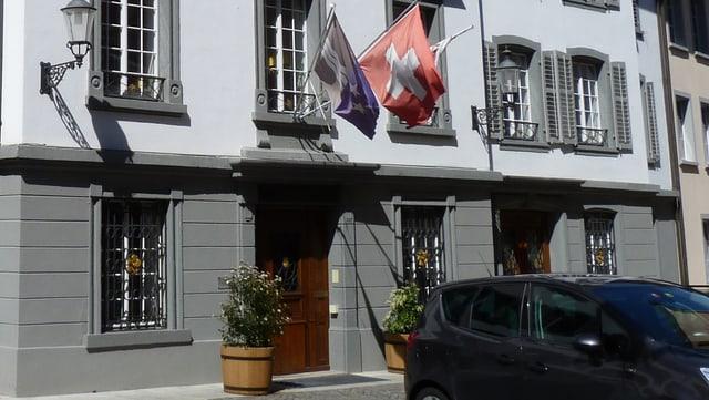 Aussenansicht Bezirksgerichtsgebäude in der Bremgarter Altstadt