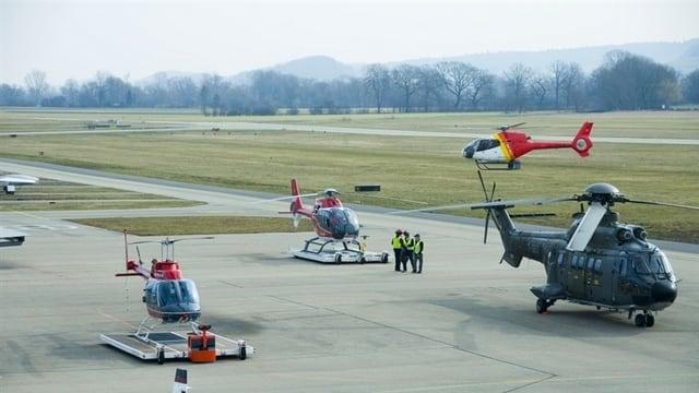 Flughafen Grenchen am Helikopter-Weekend 2012