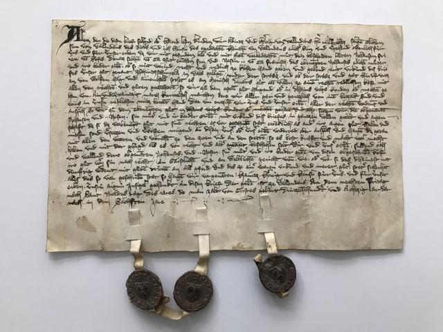 In dals documents da l'Archiv Chantunal