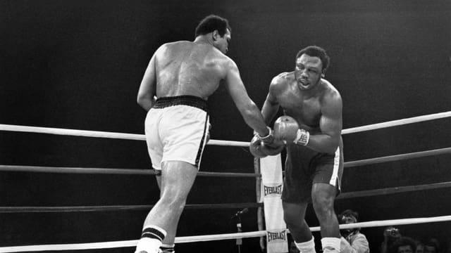 Der «Thrilla in Manila» zwischen Muhammad Ali und Joe Frazier.