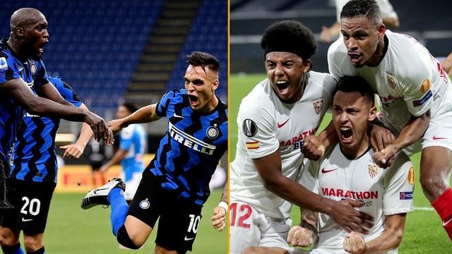 Lukaku und Martinez von Inter sowie Lucas Ocampos von Sevilla.