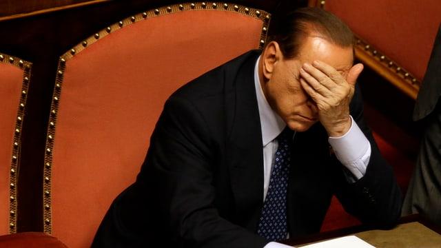 Ein nachdenklicher Berlusconi.
