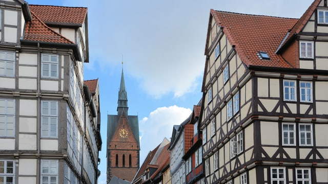 Fachwerkhäuser in Hannover.