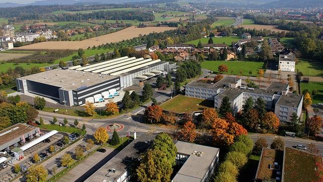 Luftaufnahme des Firmenareals