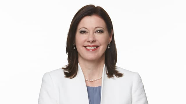 Parteipräsidentin Christine Frey