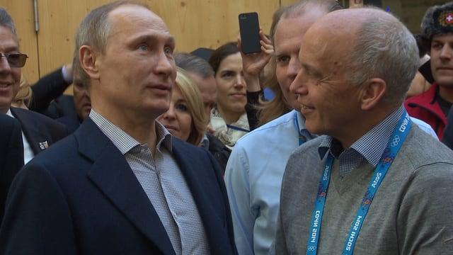 Maurer und Putin beim Smalltalk.