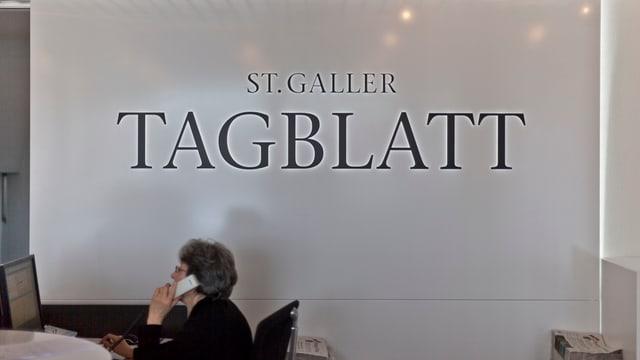 Redaktionsalltag beim St.Galler Tagblatt.