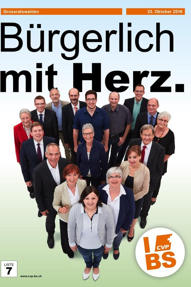 Wahlplakat der CVP