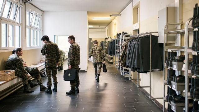 Innenansicht der Kaserne Aarau.