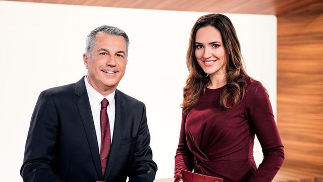 Reto Lipp und Patrizia Laeri, Moderatoren «ECO»