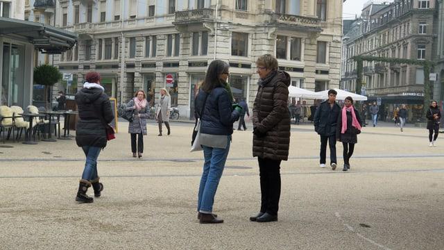 Leute auf der Strasse