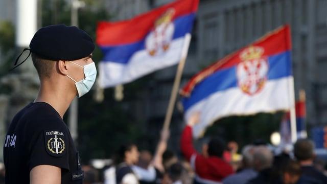 Serbischer Polizist