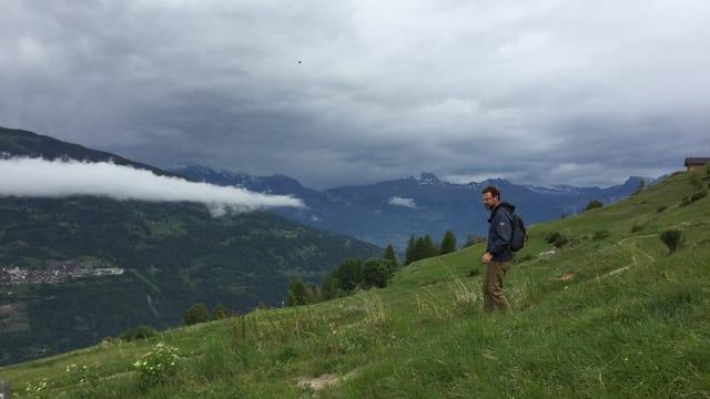Nik Hartmann unterwegs im Val d'Hérens.
