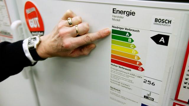 Geräte mit niedrigem Stromverbrauch erhalten das Energie-Label A.