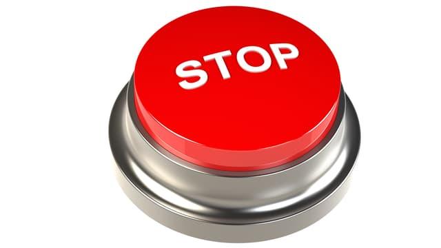 Ein Knopf für Stopp