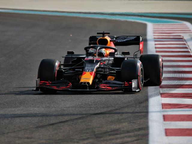 Max Verstappen fährt die schnellste Zeit im Qualifying von Abu Dhabi.