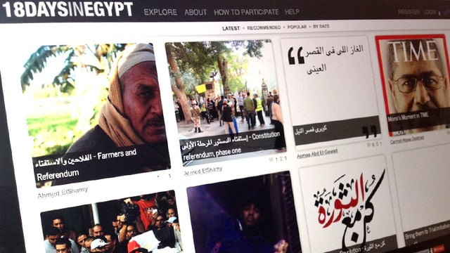 Bild der Webseite «18daysinegypt.com».