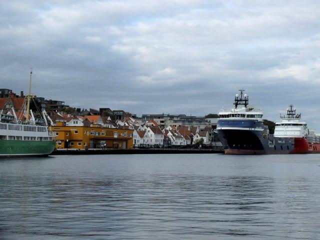 Blick auf den Hafen von Stavanger