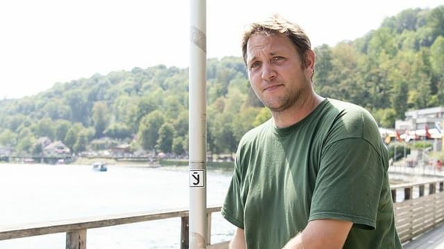 Portrait von Patrick Wasem, Fischereiaufseher im Kanton Schaffhausen.