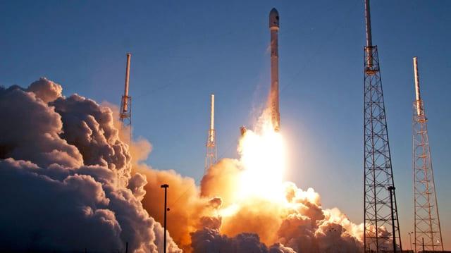 Rakete beim Take-off