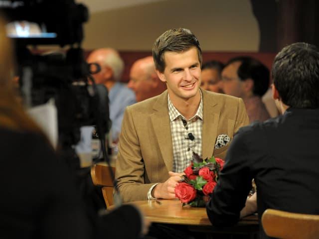 Im Gespräch: Der Moderator und sein Gast, Robin Mark.