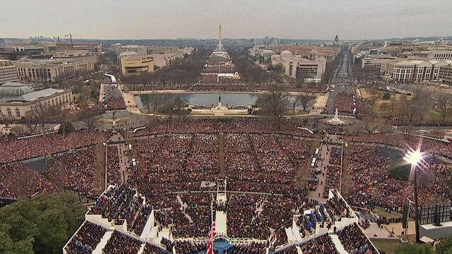 Blick von Capitol Hill über die National Mall zum Obelisk Washington Monument.