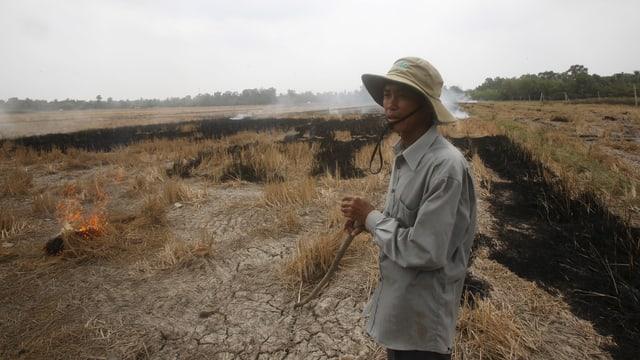 Im dürregeplagten Mekong-Delta.