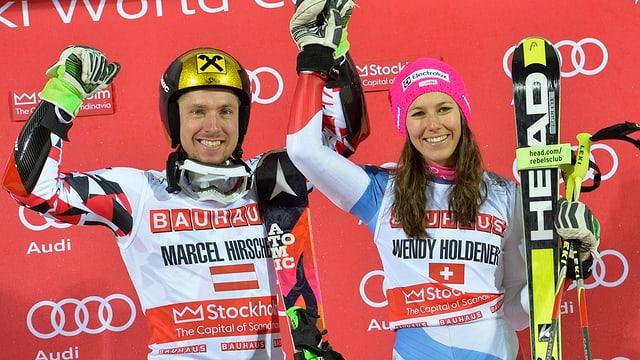 Marcel Hirscher und Wendy Holdener