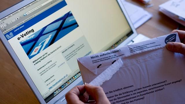 Wählen mit e-Voting: Vorläufig in den Kantonen Zürich und Schaffhausen nicht möglich.