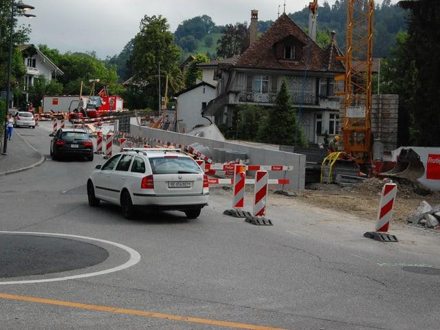 Baustelle in Thun.