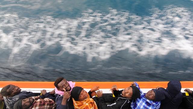 Migranten auf der «Aquarius»