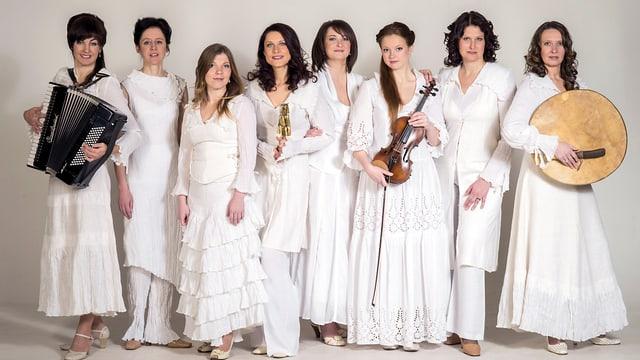 Die Vokalistinnen der Vocal Group Putni.