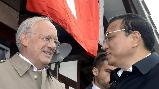 Bundesrat Schneider-Ammann mit Premier Li Keqiang