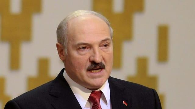 Nahaufnahme von Lukaschenko.