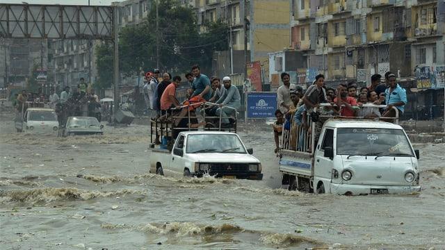Überflutete Strassen