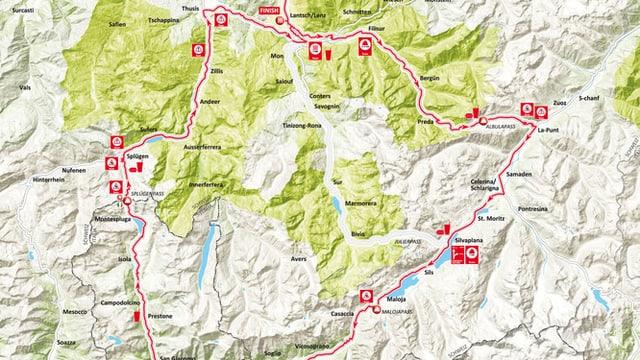 Carta da la cursa Alpen Challenge