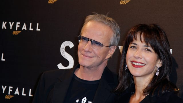 Sophie Marceau und ihr Noch-Ehemann Christohoper Lambert bei der Sky-Fall-Premiere 2012