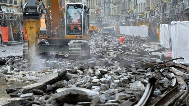 Bild von der Marktgasse-Baustelle.