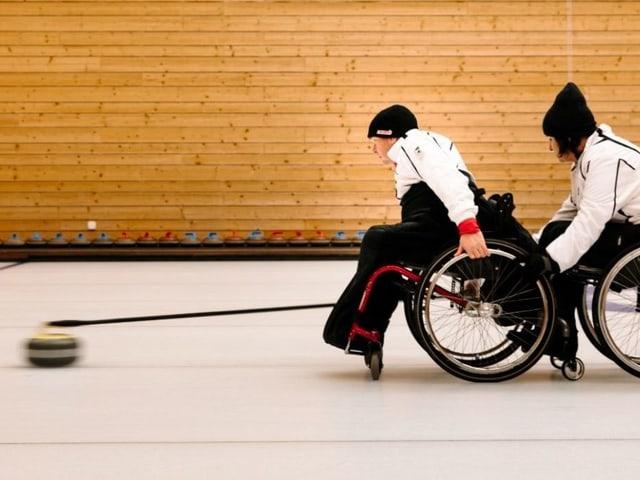 Curling im Rollstuhl