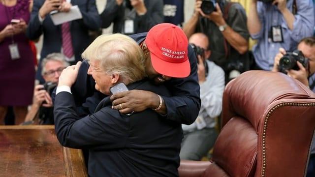 Kanye und Trump