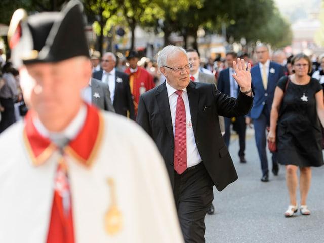 7. August 2015: Das Wallis feiert mit Bundespräsident Schneider-Ammann 200 Jahre Zugehörigkeit zur Eidgenossenschaft.