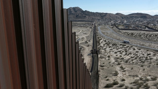 Grenzzaun zu Mexiko.