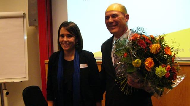 CVP-Präsidentin Sabrina Mohn und CVP-Regierungsratskandidat Anton Lauber.