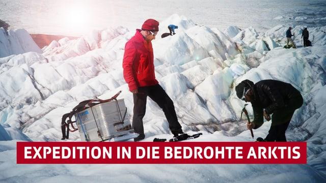 Gletscherbild mit Serientitel