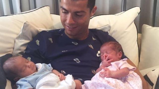 Ronaldo mit Zwillingen