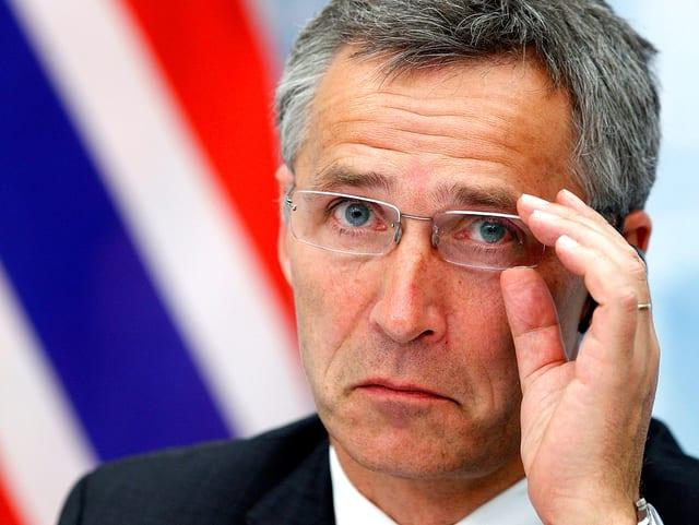 Portrait des neuen Nato-Generalsekretärs Jens Stoltenberg.