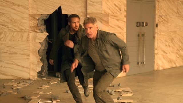 Die beiden Hauptdarsteller von «Blade Runner 2049» Ryan Gosling und Harrison Ford.