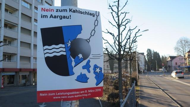 """Plakat """"Nein zum Kahlschlag im Aargau"""""""