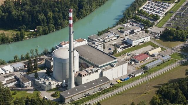 Luftaufnahme des AKW Mühleberg